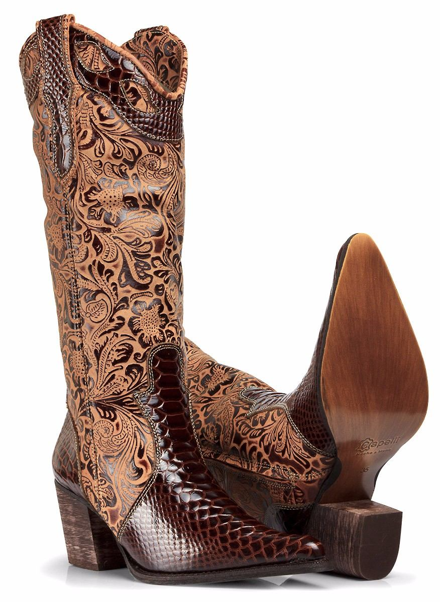 bota country feminina texana montaria rodeio - capelli boots. Carregando  zoom. 4a5568e10ba