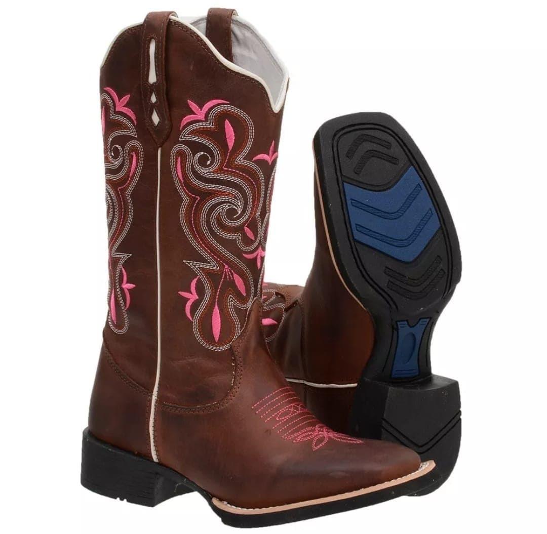 46eb707538 bota country feminino texana cano alto couro barato bonita. Carregando zoom.