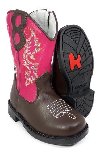 bota country infantil texana feminina cowboy kifofo 8117
