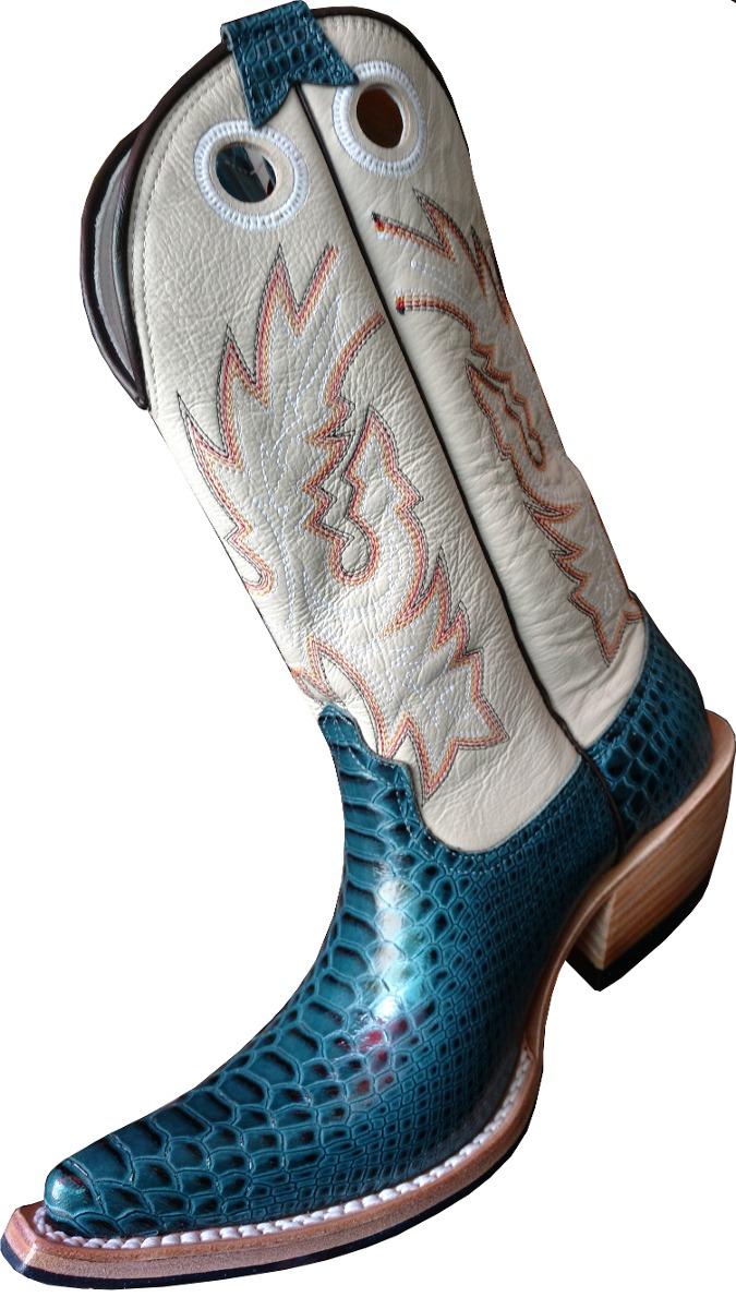 bota country masculina aladim - azul. Carregando zoom. d8a55331a64