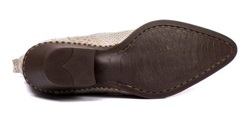 bota country masculina anaconda bico fino texana couro nobre