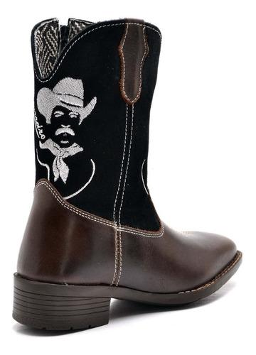 bota country masculina bico quadrado texana couro cano longo