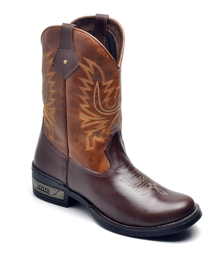 83cf2100c6 bota country masculina bico redondo texana couro cano longo. Carregando zoom .