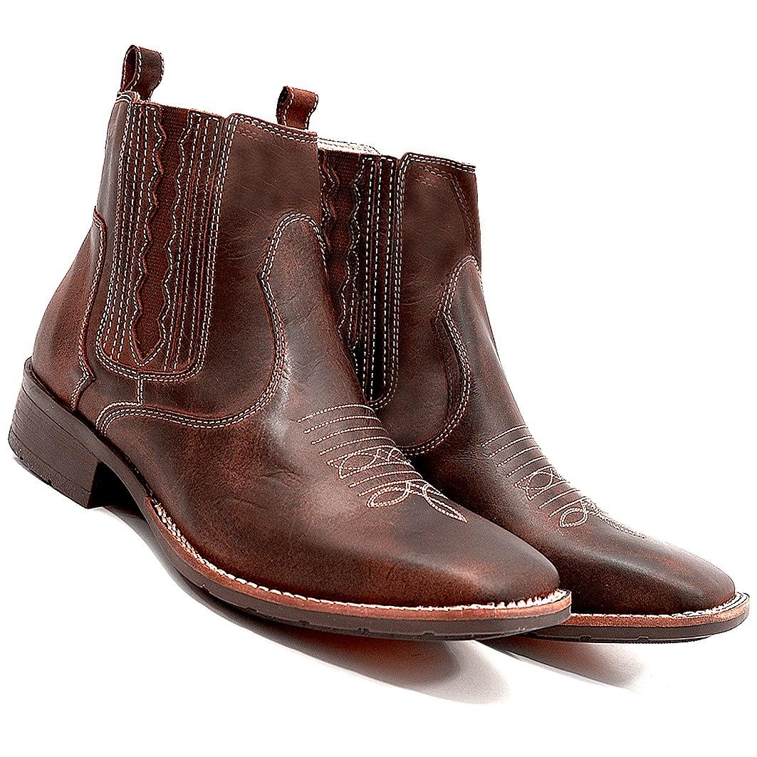 6dbdb2bec4 bota country masculina cano curto texana bico quadrado couro. Carregando  zoom.