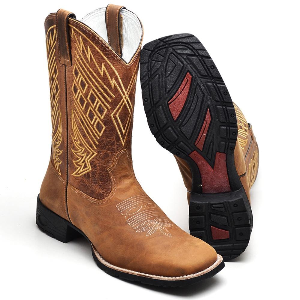... bota country masculina cano longo texana bico quadrado couro. Carregando  zoom. 53cdb1f3bd5