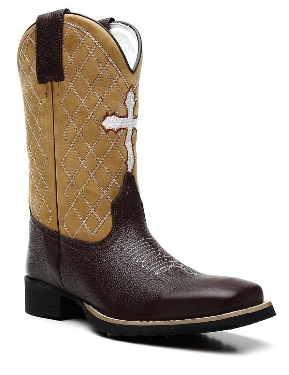 fb885927bd bota country masculina cano longo texana bico quadrado couro. Carregando  zoom.