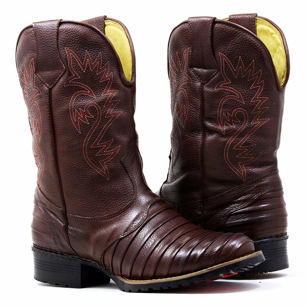1859c8ec3e bota country masculina cano longo texana bico redondo couro. Carregando  zoom.