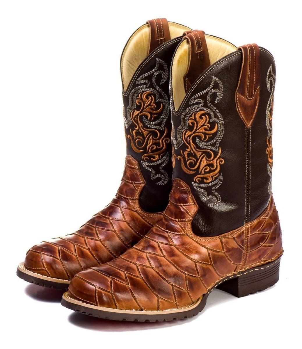 cefa2735e9 bota country masculina cano longo texana escamada 100% couro. Carregando  zoom.
