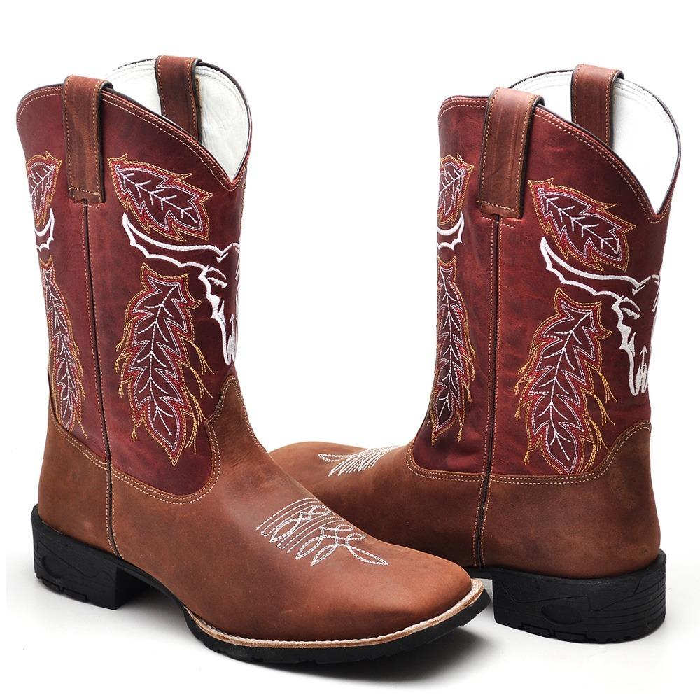 2a67d8263d bota country masculina cano longo texana rodeio couro rodeio. Carregando  zoom.