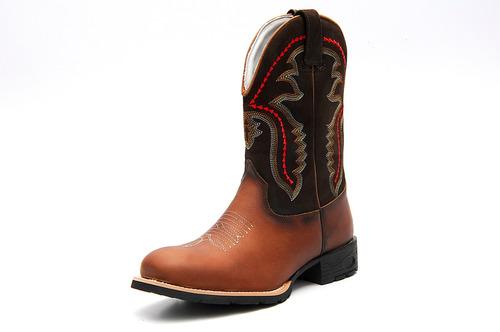 Bota Country Masculina Cano Longo Texana Solado Costurado - R  139 ... 6bedf42a8b8