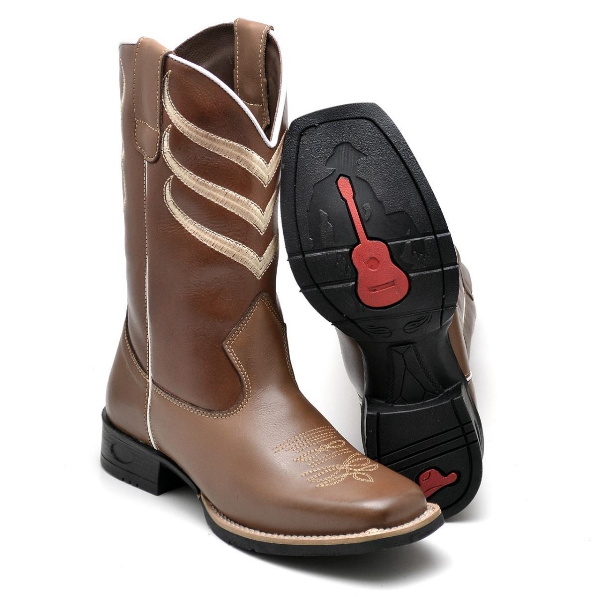 bota country masculina rodeio couro brinde texana barretão. Carregando zoom. 97441c0cb54