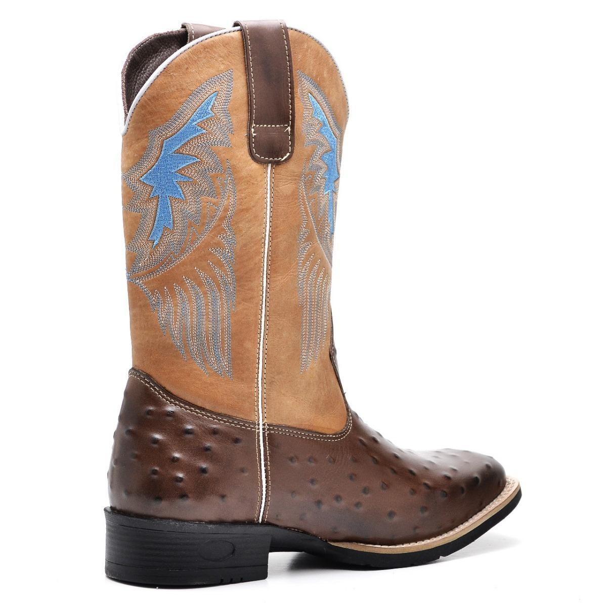 bota country masculina rodeio couro legitimo texana barretao. Carregando  zoom. 5a7414492df