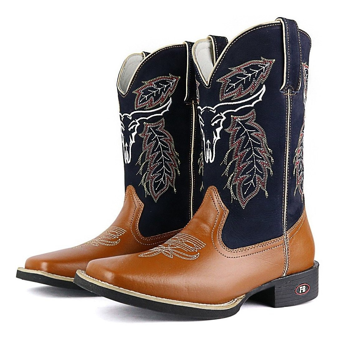 225908e664 bota country masculina texana alto couro nobre bico quadrado. Carregando  zoom.