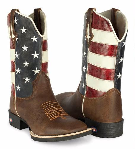bota country masculina texana americana usa couro + carteira