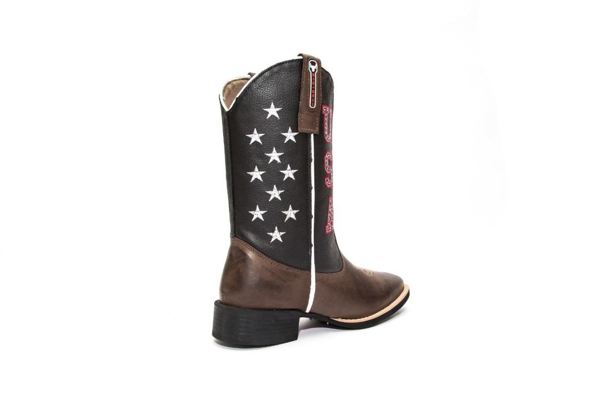Bota Country Masculina Texana Americana Usa Couro Legítimo - R  240 ... e5c4c3b1de7