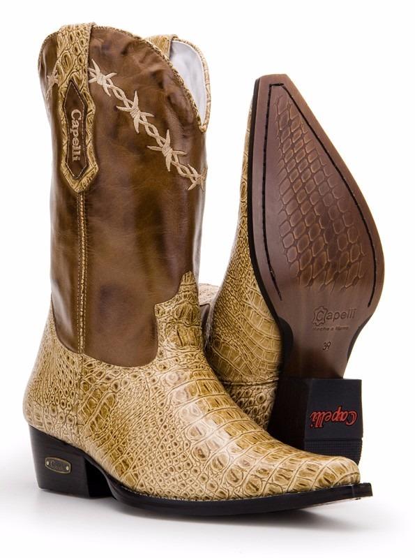 01ccc47758 Bota Country Masculina Texana Bico Fino Capelli Boots 7002 - R$ 299 ...