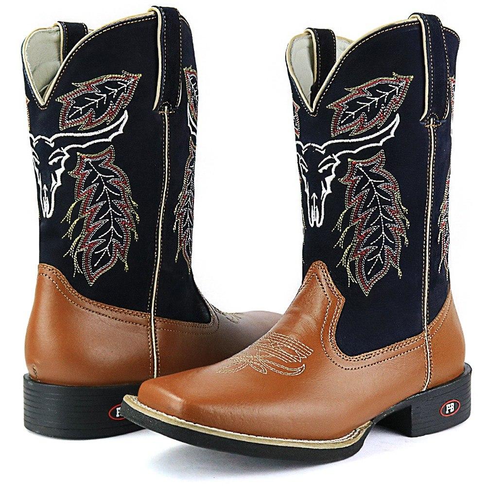 bota country masculina texana cano alto couro cara boi. Carregando zoom. 5d8792a732f