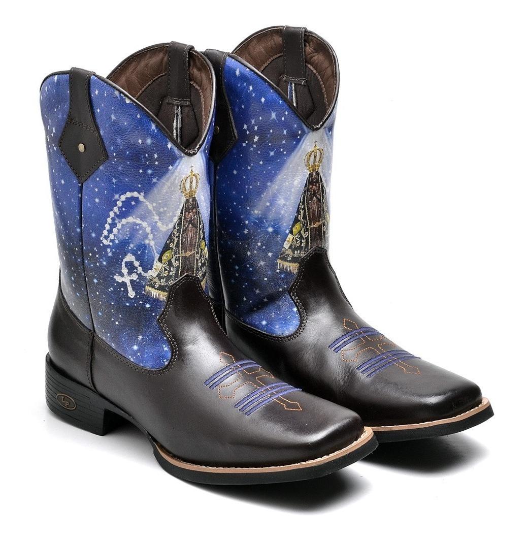 9fcc563d76 bota country masculina texana nossa senhora aparecida couro. Carregando  zoom.