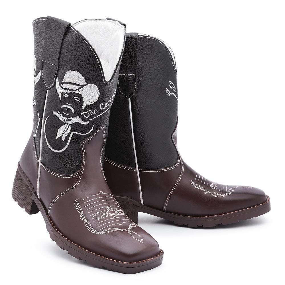 bota country masculina texana tião carreiro em couro confort. Carregando  zoom. 486ed0e5ea4
