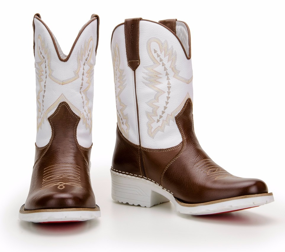 bota country masculina western sola branca - capelli boots. Carregando zoom. a3c63a6c91e