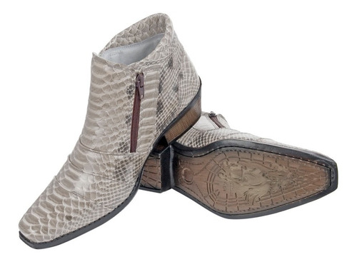 bota country peão texana western couro legitimo anaconda fc