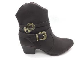 c8ba938736 Bota Ramarim Cano Baixo Botas - Sapatos para Feminino Marrom no ...