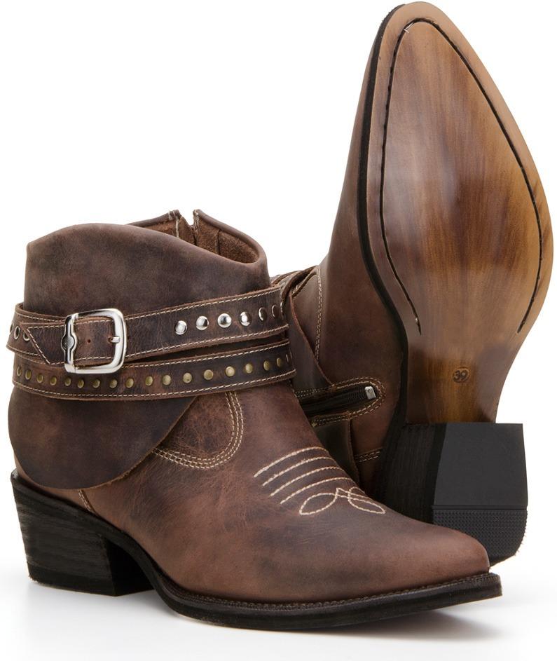 b82d8dc3e7d85 bota country texana feminina fivela 100% couro cano curto. Carregando zoom.