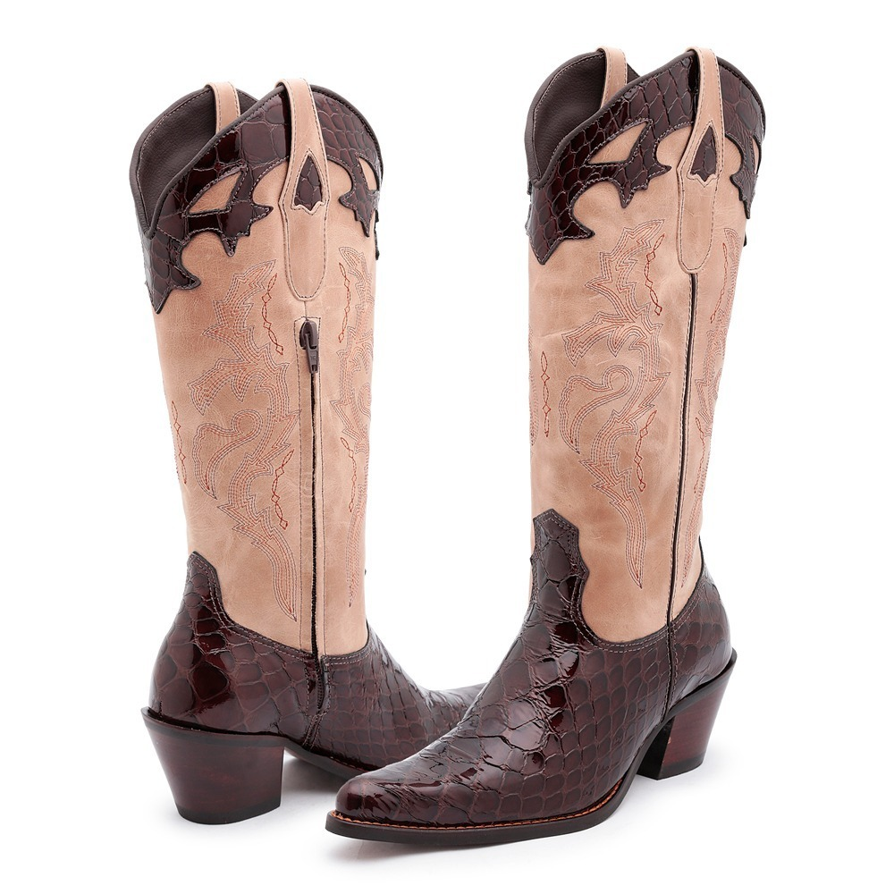 Bota Country Texana Feminina Montaria Bico Fino 100% Couro - R  314 ... d24284eeeb5