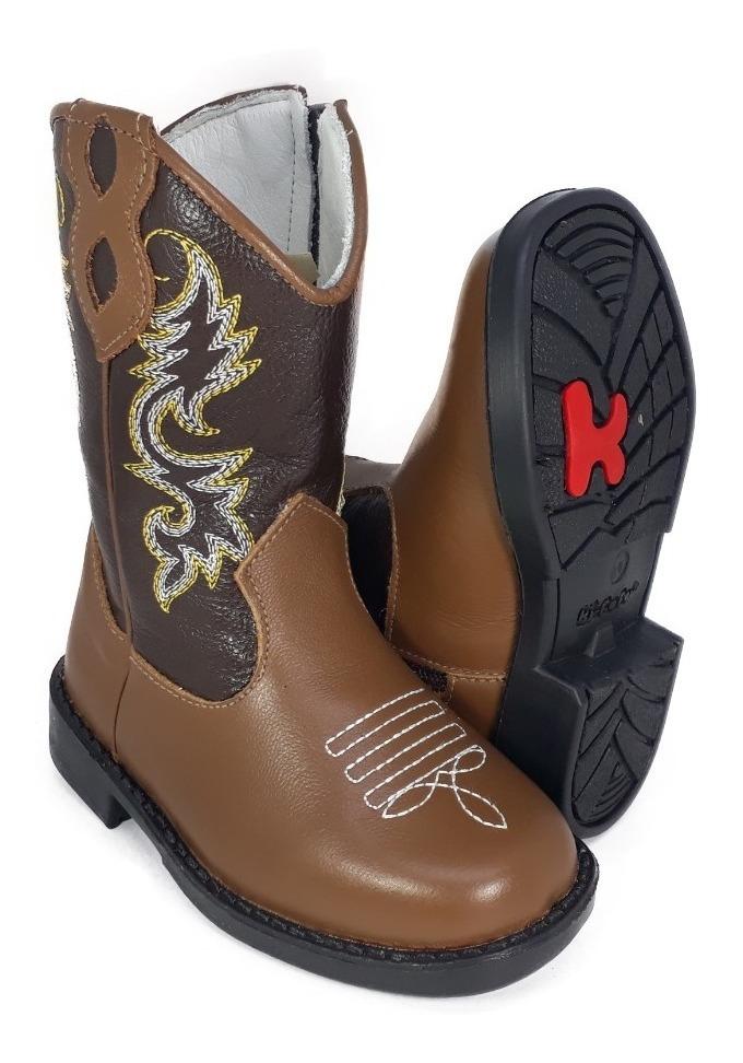 b9699c1fd7013e Bota Country Texana Infantil Cowboy Ki-fofo Rodeio Peão 8120
