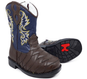 e5014597aa846c Bota Country Texana Infantil Menino Menina Escamada 8190
