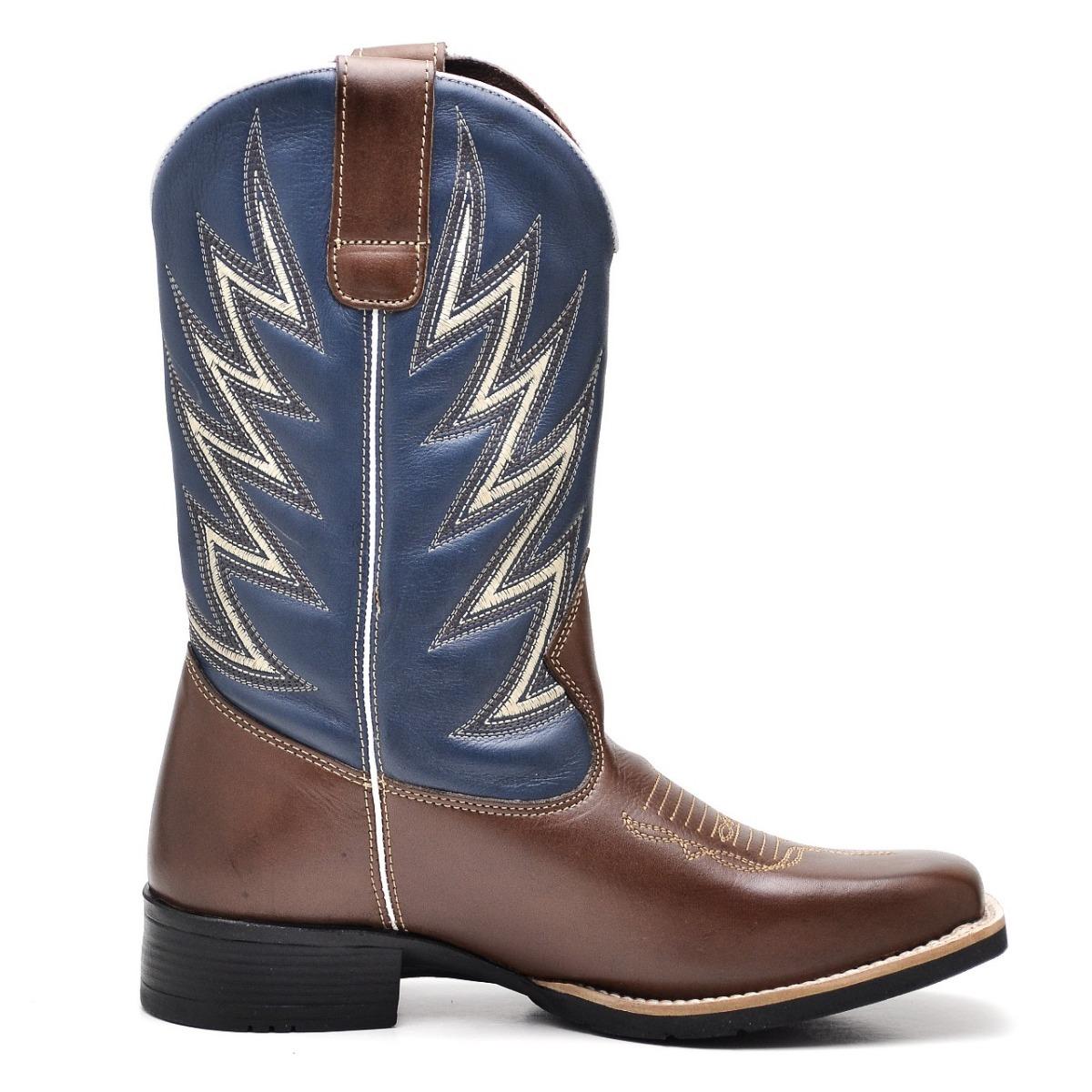 2ed7c9b17d bota country texana masculina bico quadrado couro. Carregando zoom.