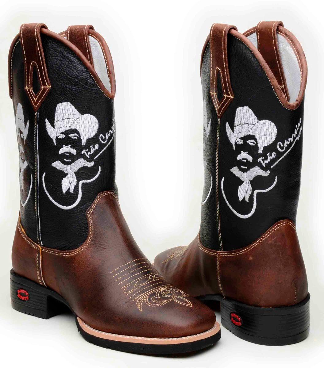 bota country texana masculina bico quadrado tião carreiro. Carregando zoom. 6dfdd5e44df