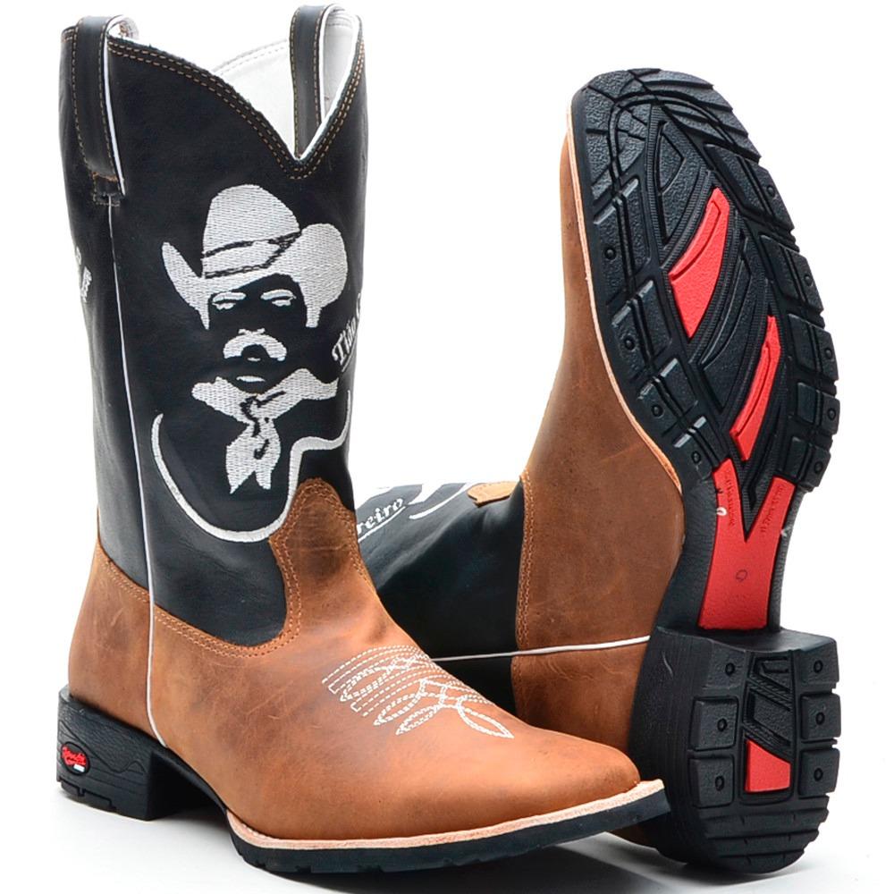 bota country tião carreiro texana bico quadrado cano longo. Carregando zoom. d9a7ccfeea2