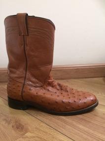ddf6928b8e Bota Importada Marca Justin Boots Couro De Avestruz Cheia. - Sapatos com o Melhores  Preços no Mercado Livre Brasil