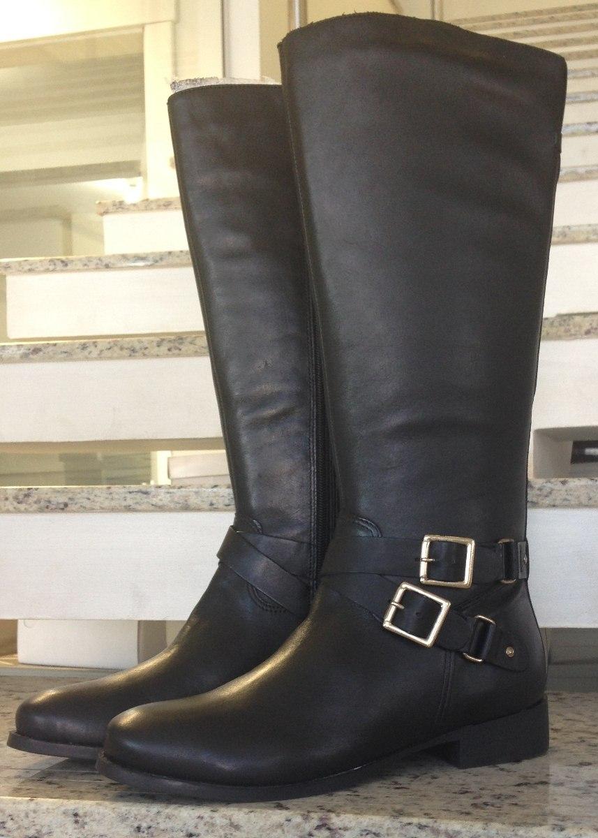 8759c2ae4 bota couro legítimo ajustavel cano longo feminina. Carregando zoom.