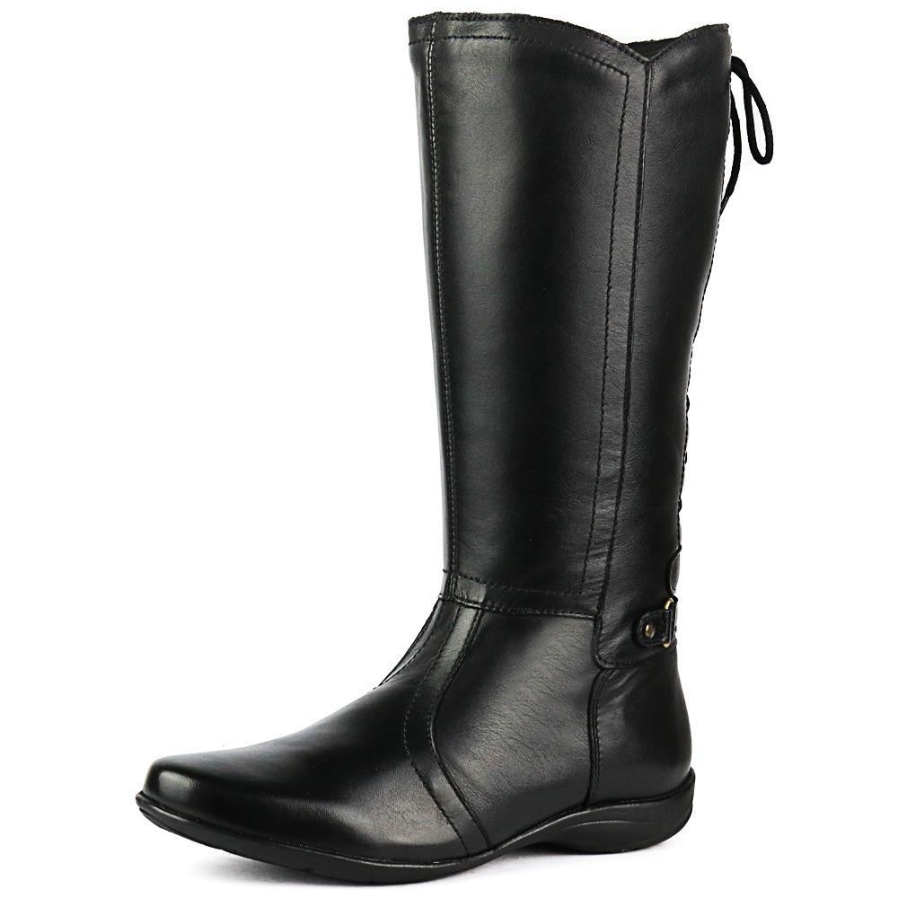 da806a292cc bota couro legítimo feminina moderna linda alta qualidade. Carregando zoom.