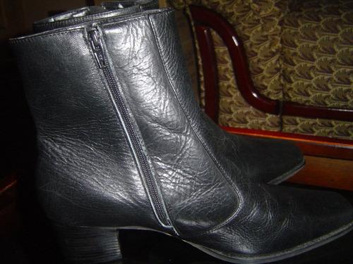 bota couro preta ,vernon,cano medio,tam 37,bico quadrado