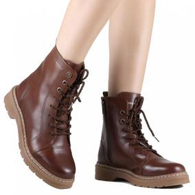 c30e85cb868 Bota Coturno Cravo E Canela Feminino - Sapatos no Mercado Livre Brasil