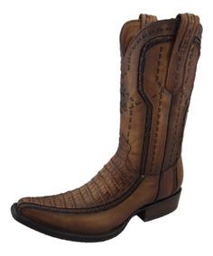 buena textura calzado calidad asombrosa Bota Cuadra Hombre Piel Cocodrilo Tipo Versage Color Arena