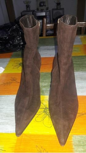 bota d cuero gamusado nuevo marca sergio rossi talle 38