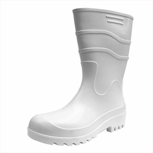 bota de borracha cor branca