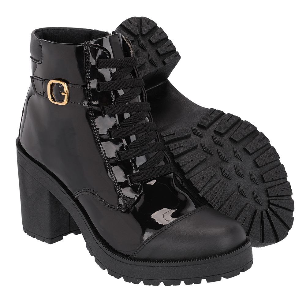 9763c3909f bota de couro coturno feminino solado tratorado feminino. Carregando zoom.