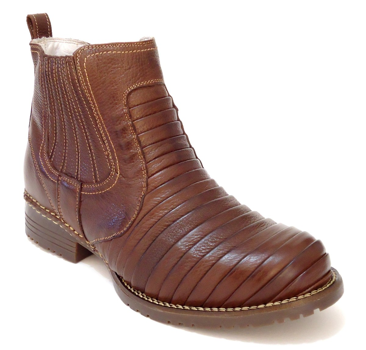 b47335cbff bota de couro escamada country - texana - sapatofranca. Carregando zoom.
