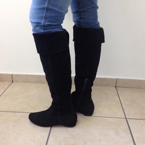 bota de couro feminina