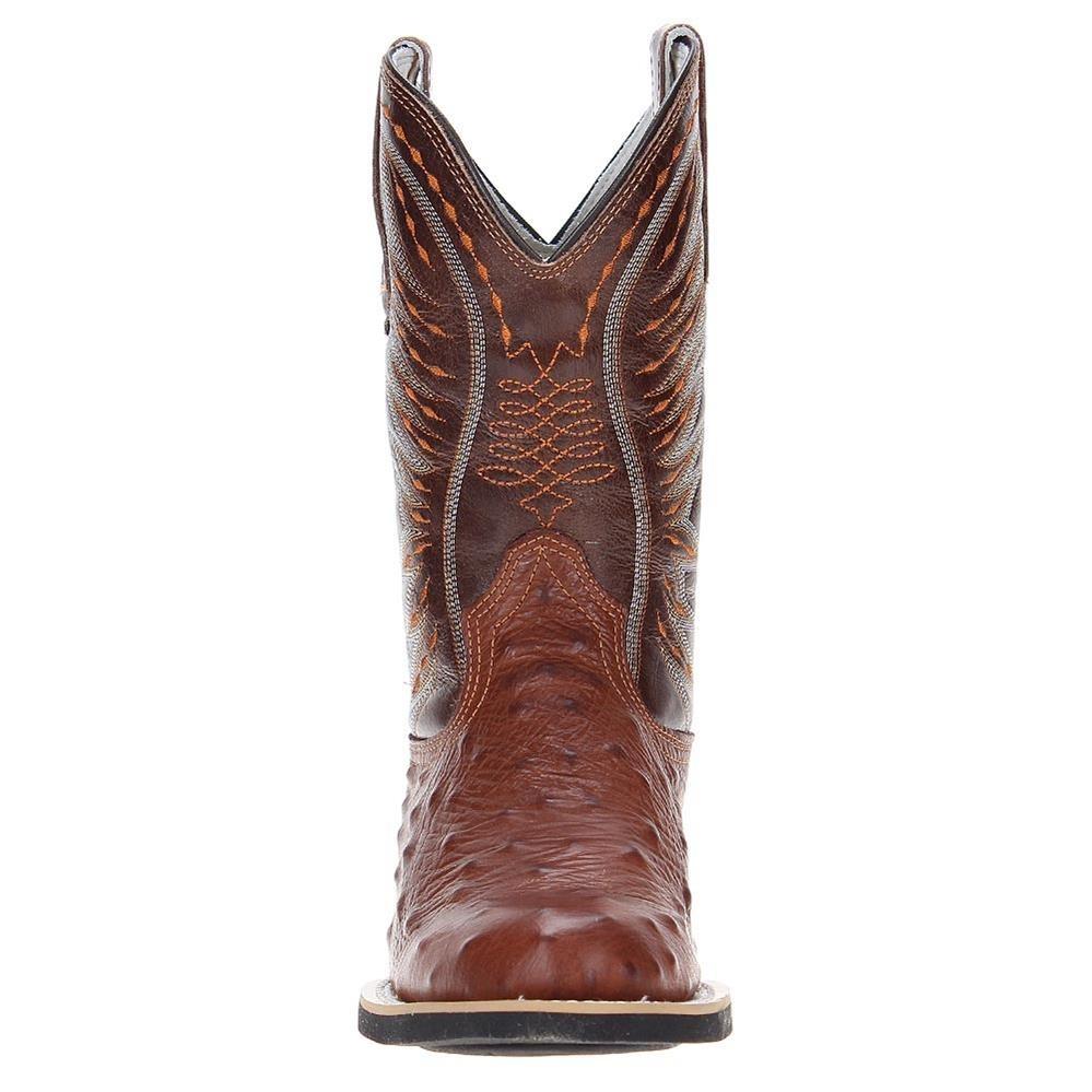 bota de couro marrom masculina avestruz réplica west country. Carregando  zoom. 1fc9d678e0b
