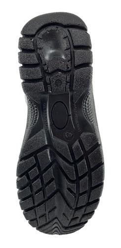 bota de cuero de seguridad color negro  isonic
