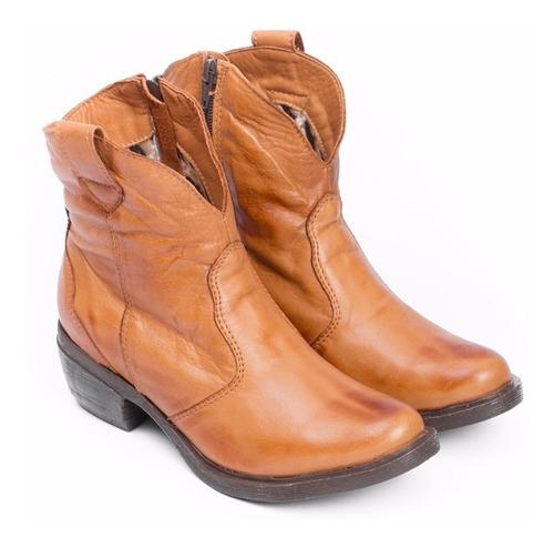 bota de cuero marcel calzados (cod.r02) terracota.