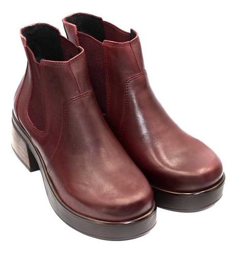 bota de dama de cuero marcel calzados (mod.19659)