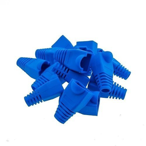 bota de goma protectora para conector rj45 color azul