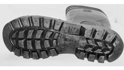 bota de goma pvc caña larga negras sin puntera #37 al 45